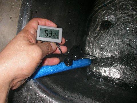 手作り温水器のお湯の温度4