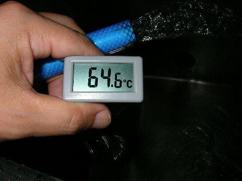 手作り温水器のお湯の温度6