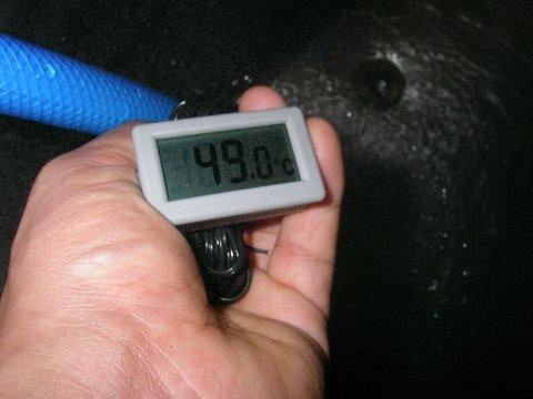 手作り温水器のお湯の温度3