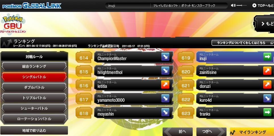レーティング結果_ランキングシーズン1(2011.05.17)_1706