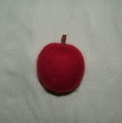 リンゴマグネット(羊毛フェルト)