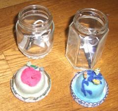 瓶 ピンクッション リンゴ 花 2