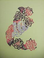 2009 薔薇の切り絵 冊子の表紙A