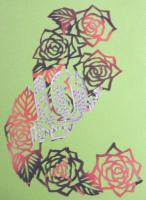2009 薔薇の切り絵 冊子の表紙B
