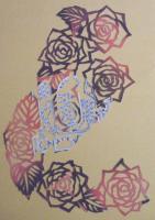 2009 薔薇の切り絵 冊子の表紙C