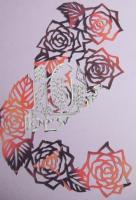2009 薔薇の切り絵 冊子の表紙D