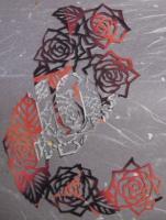 2009 薔薇の切り絵 冊子の表紙F