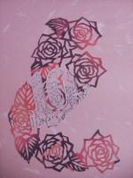 2009 薔薇の切り絵 冊子の表紙E