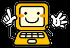 顔つきパソコン