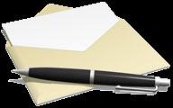 封筒と万年筆