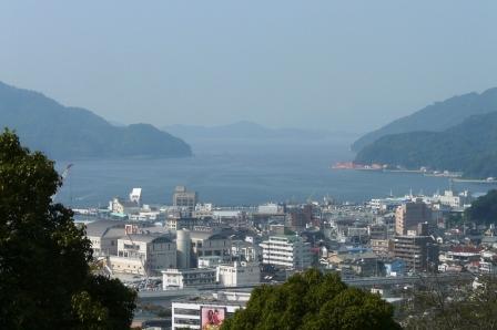 宇和島城からの眺め