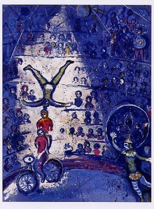 bike⑮シャガール『サーカスより』自転車乗り達。circus01
