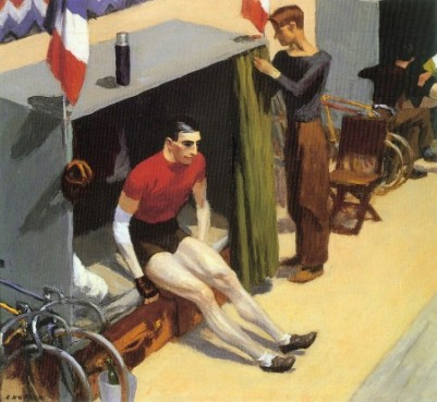 bike⑯Hoppers 1937 painting French Six-day Bicycle Rider