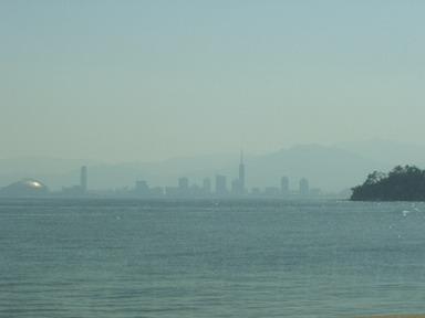 志賀島から博多を