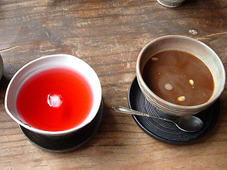 五味子茶と棗茶
