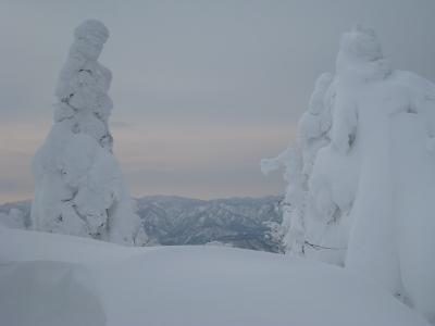 10.樹氷と山脈