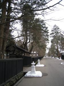 雪燈籠の風景