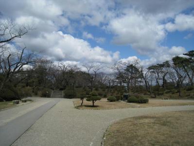 千秋公園の二の丸です。