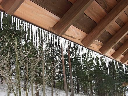 鷹山公園の氷柱