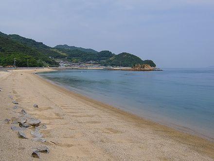 南浦キャンプ場前の海岸