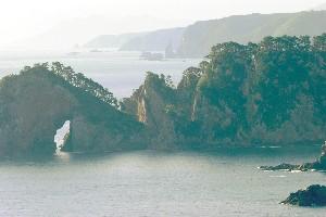 朝の松島を望む