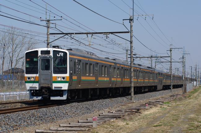 2012年3月29日 MUE train タカC1 間々田-野木