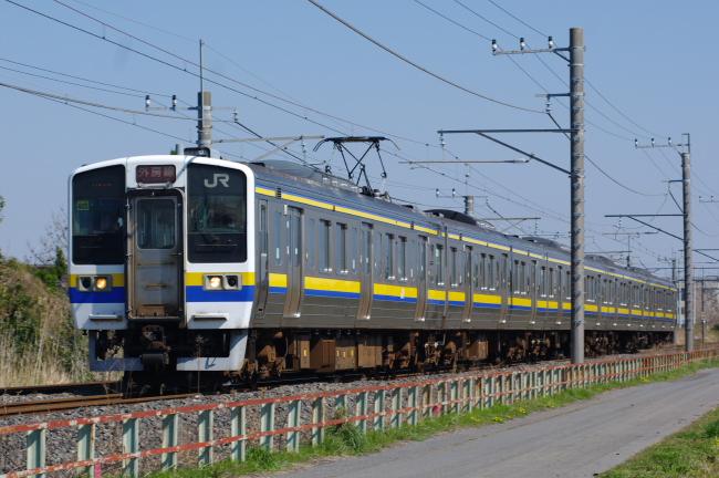 2012年4月8日 外房線 241M マリ405 永田-本納