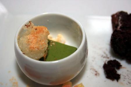 抹茶と蕨餅