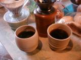 煎れたてのコーヒー