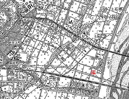 昭和45年測量地図縮小