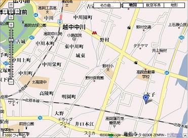 三女子分譲地グーグル地図