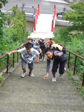 楯山石段登り