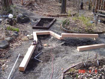 根堀、木枠組