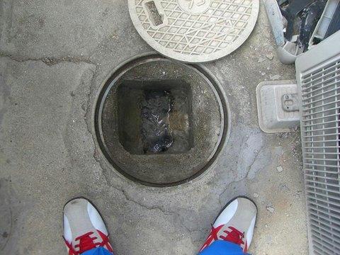 下水工事の調査