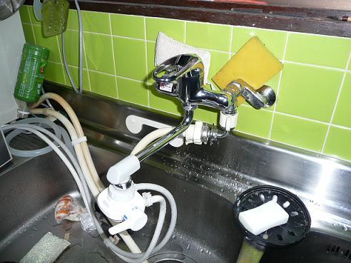 シングルレバー混合水栓取換え