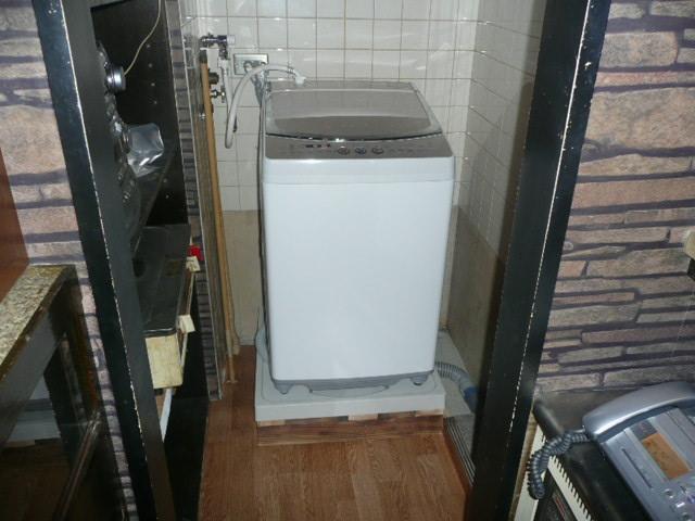 洗濯機置き場の設置