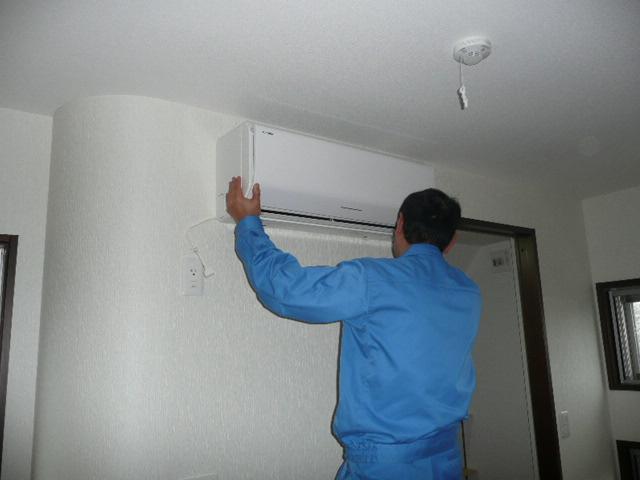 エアコンと配管の取付け工事 神戸市