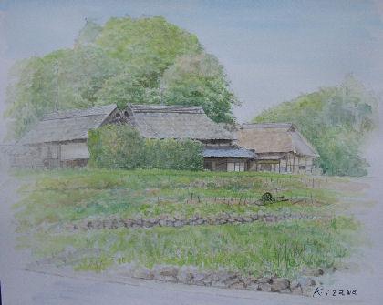 2009年05月11日 岡山県 八塔屋ふるさと村-2 水彩画