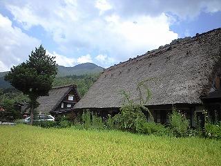 s-白川郷 茅葺きの家1