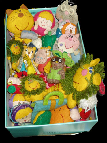 川崎さんのフェルト人形