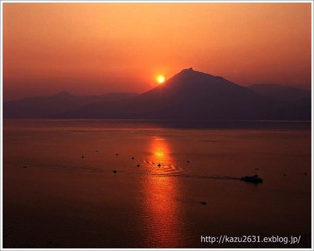 支笏湖 夕陽