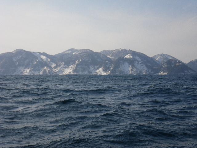 雪化粧の経ヶ岬