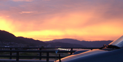 芦田川大橋から見る夕焼け