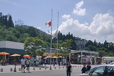 終戦記念日の小谷サービスエリア