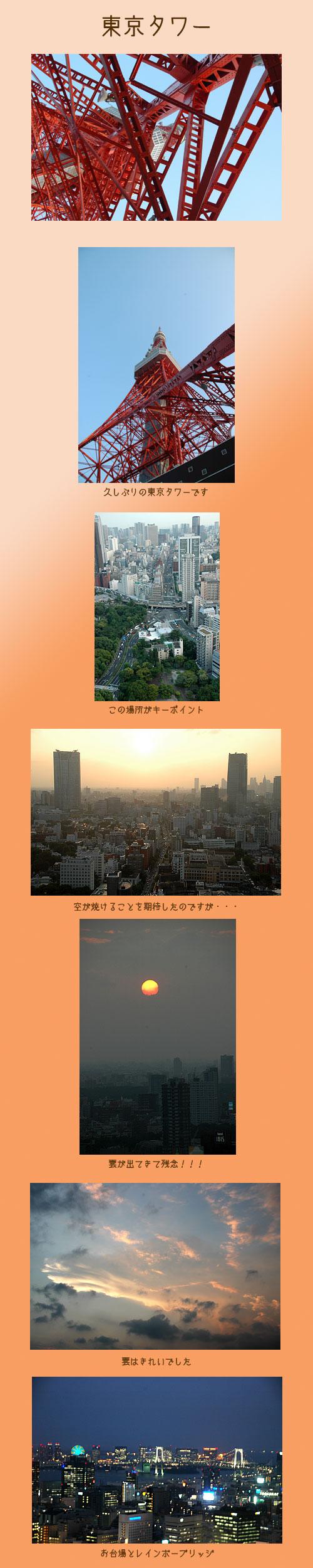 7月29日東京タワー1