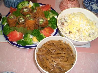 実家の夕食1