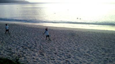 大浜の夕日2