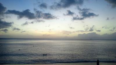 大浜の夕日3