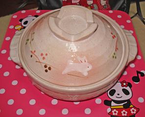 土鍋(うさ)3