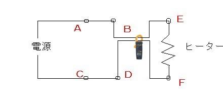 ヒーター電流測定クランプ漏れ電流